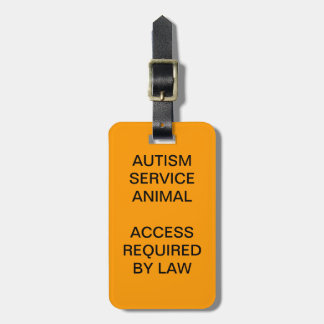 Autism Service Dog ID Badge Bag Tag