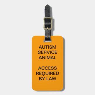 Autism Service Dog ID Badge Bag Tag