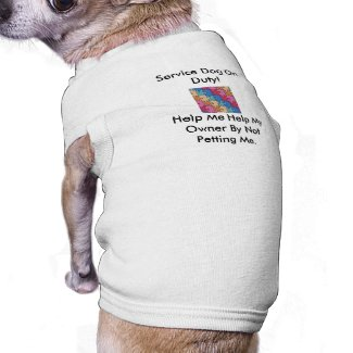 Autism Service Dog Uniform T-Shirt Dog Clothing