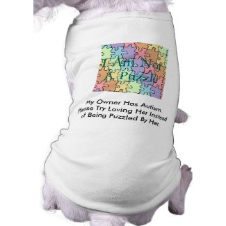 Autism Service Dog Uniform T-Shirt Doggie Tee Shirt