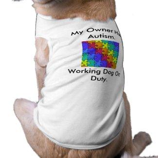 Autism Service Dog Uniform T-Shirt Doggie Shirt