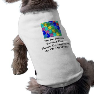 Autism Service Dog Uniform T-Shirt Pet Shirt