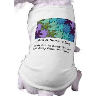 Autism Service Dog Uniform T-Shirt Pet Tee