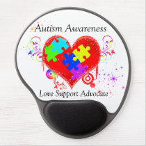 Autism Shining Heart Gel Mouse Pad