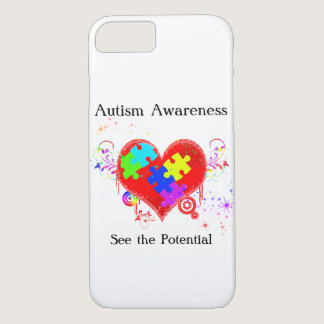 Autism Shining Heart iPhone 7 Case