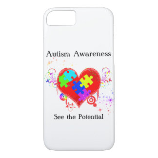 Autism Shining Heart iPhone 8/7 Case