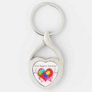 Autism Shining Heart Keychain