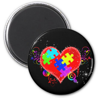 Autism Shining Heart Magnet