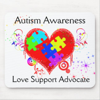 Autism Shining Heart Mouse Pad