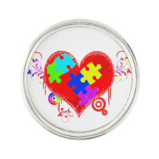Autism Shining Heart Pin
