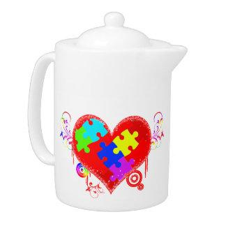 Autism Shining Heart Teapot