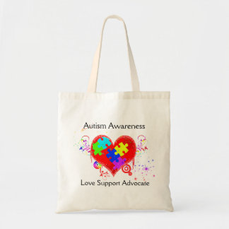 Autism Shining Heart Tote Bag