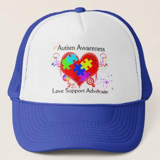Autism Shining Heart Trucker Hat