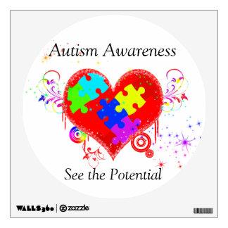 Autism Shining Heart Wall Sticker