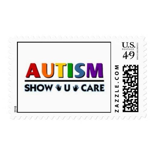 autism show u care postage stamp