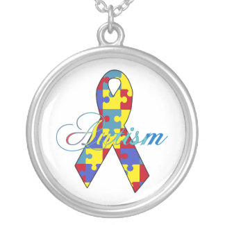 Autism Silver Plated Necklace