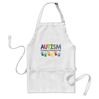 Autism Simply Awesome Autism Awareness Adult Apron