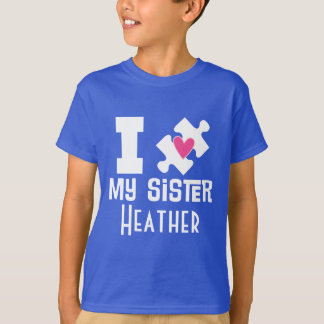 Autism Sister Personalized Awareness T-shirt