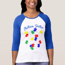 Autism Sister   Sleeve Raglan (Fitted) T-Shirt