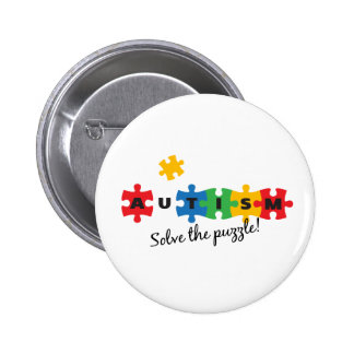 Autism - Solve the puzzle! 2 Inch Round Button