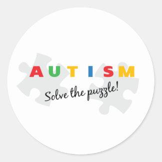 Autism - Solve the puzzle! Classic Round Sticker