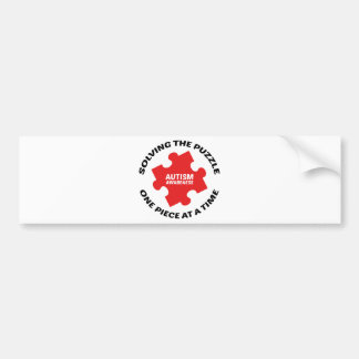 Autism : Solving The Puzzle One Piece At A Time Bumper Sticker