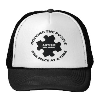 Autism : Solving The Puzzle One Piece At A Time Trucker Hat