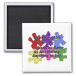Autism Speaking 2 Inch Square Magnet
