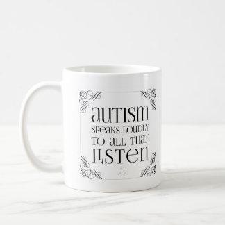 Autism Speaks Loudly Coffee Mug