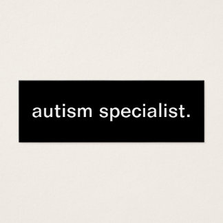 Autism Specialist Business Card