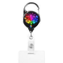 Autism Spectrum Tree Badge Holder