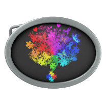 Autism Spectrum Tree Belt Buckle
