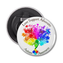 Autism Spectrum Tree Bottle Opener