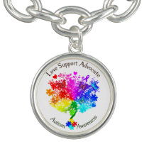 Autism Spectrum Tree Bracelet