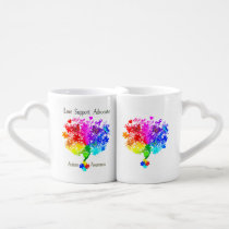 Autism Spectrum Tree Coffee Mug Set