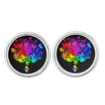 Autism Spectrum Tree Cufflinks