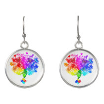 Autism Spectrum Tree Earrings