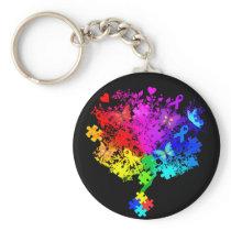 Autism Spectrum Tree Keychain