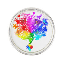 Autism Spectrum Tree Lapel Pin