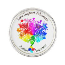 Autism Spectrum Tree Lapel Pin