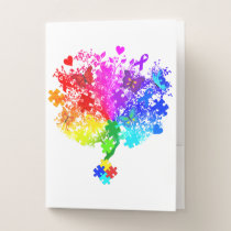 Autism Spectrum Tree Pocket Folder