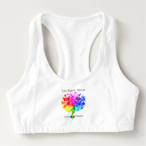 Autism Spectrum Tree Sports Bra