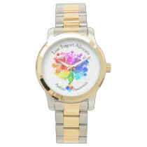 Autism Spectrum Tree Wrist Watch
