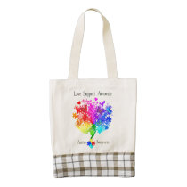 Autism Spectrum Tree Zazzle HEART Tote Bag