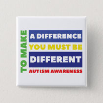 Autism Square Button