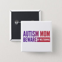 Autism- Square Button