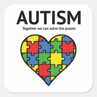 Autism Square Sticker