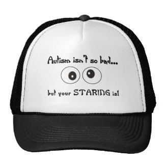 autism staring hats