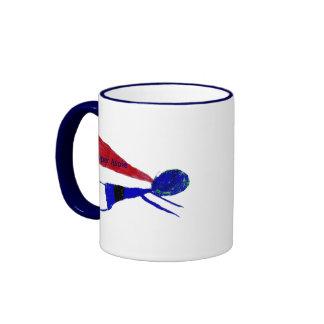 "AUTISM Super Aspie  ""Autism Awareness"" Ringer Coffee Mug"