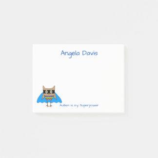 Autism Super Hero Cape Autism Colors Owl Zig Zags Post-it Notes